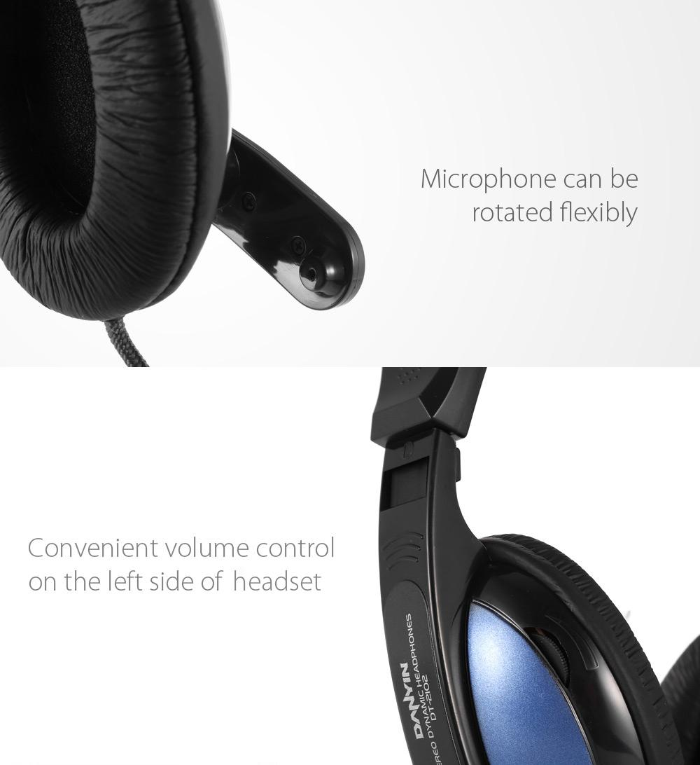 Danyin DT-2102 Ergonomic Stereo Gaming Headset Earphones